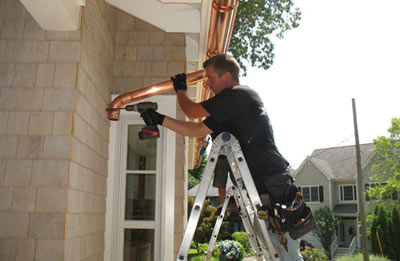 Gutter installation in Middletown